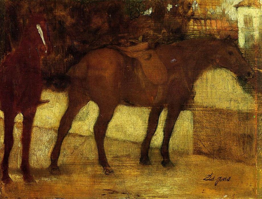 famous painting Study of Horses of Edgar Degas