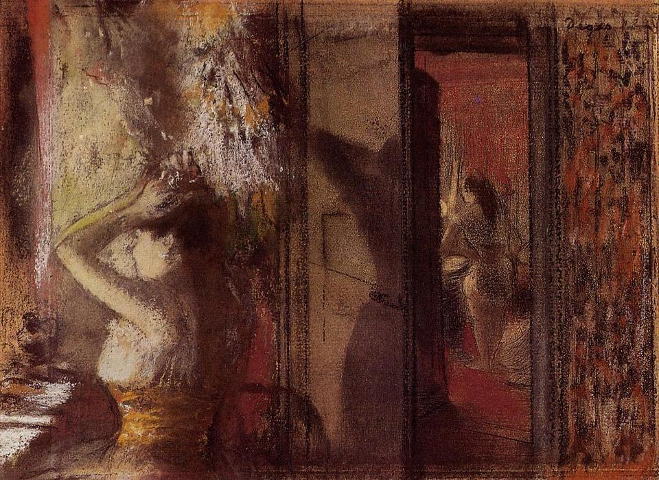 famous painting The Actresses Dressing Room of Edgar Degas