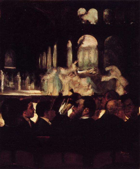 famous painting The Ballet from 'Robert la Diable' of Edgar Degas