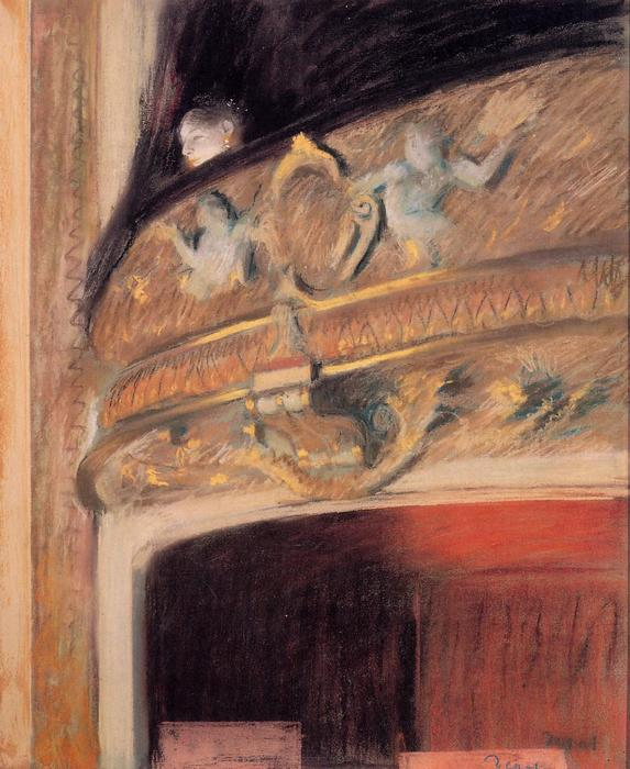 famous painting The Box at the Opera of Edgar Degas