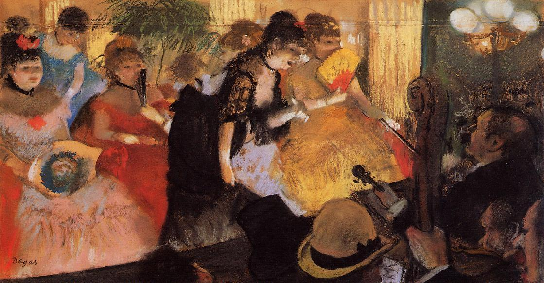 famous painting The Cafe Concert of Edgar Degas