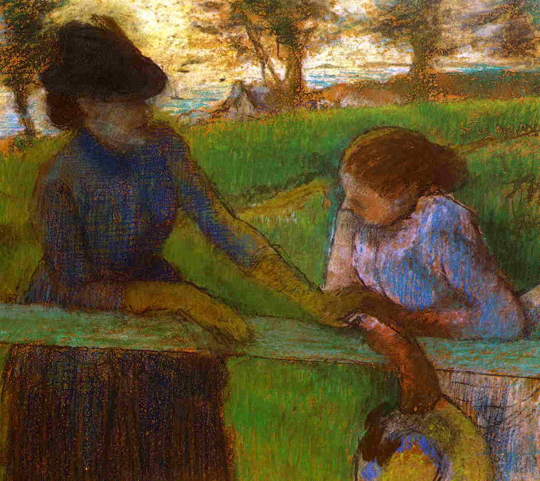famous painting The Conversation of Edgar Degas