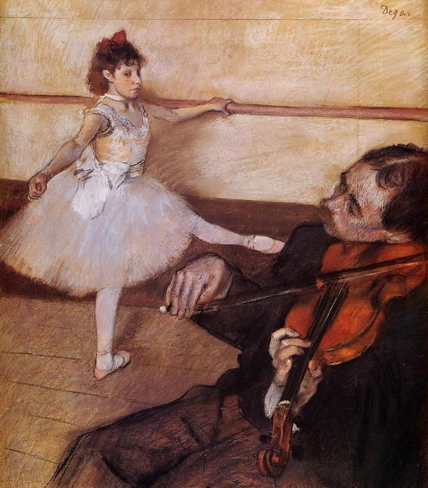 famous painting The Dance Lesson of Edgar Degas