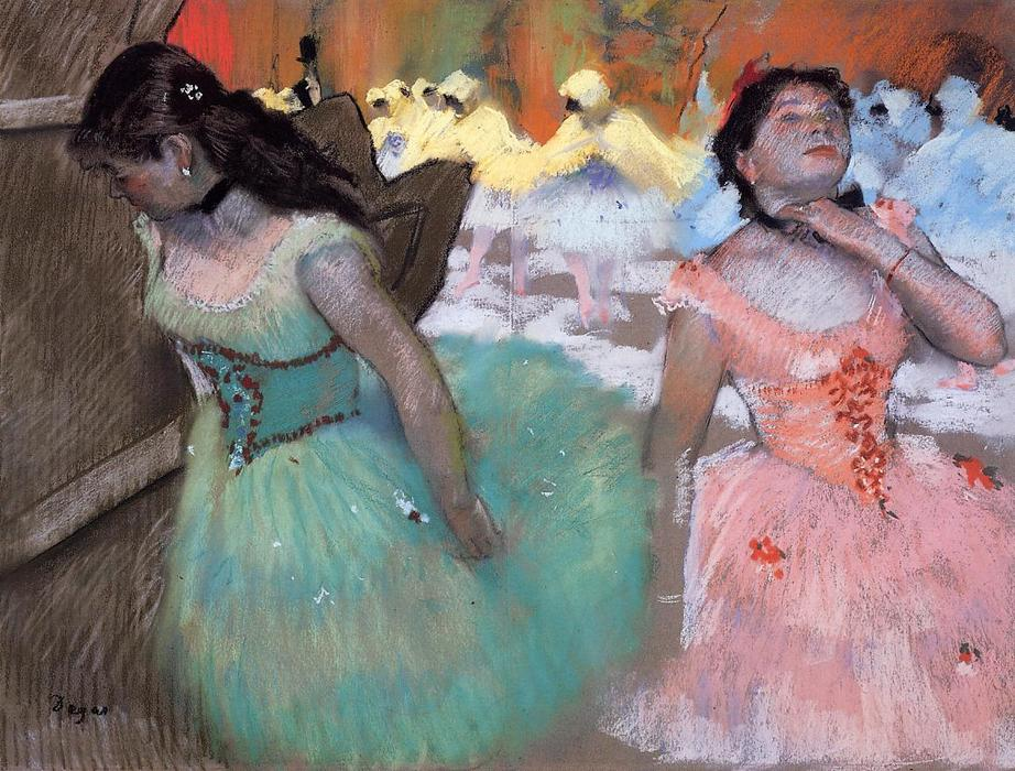 Order Paintings Reproductions Impressionism | The Entrance of the Masked Dancers by Edgar Degas | TopImpressionists.com