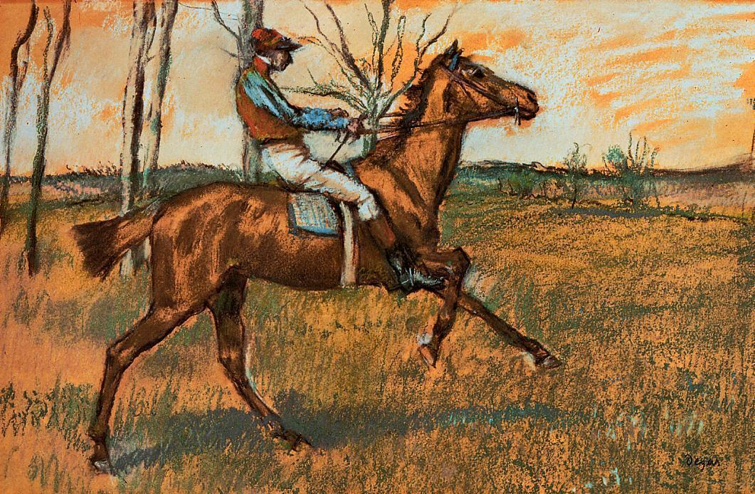 famous painting The Jockey of Edgar Degas