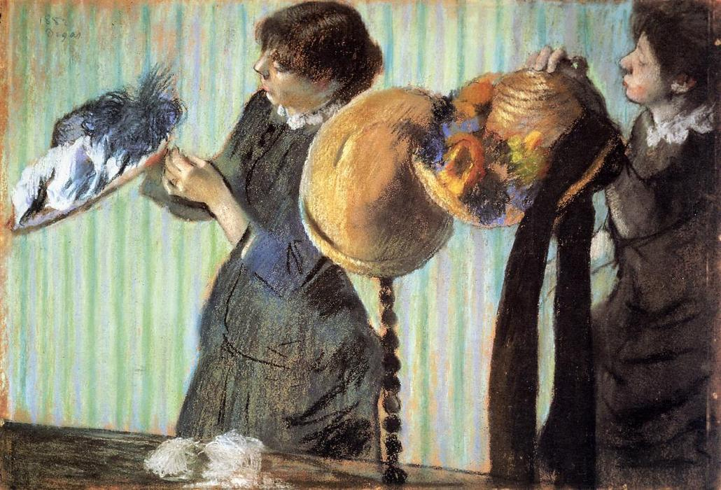 famous painting The Little Milliners of Edgar Degas