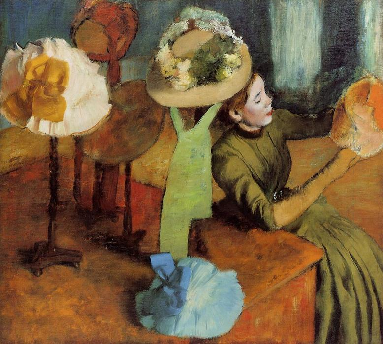 famous painting The Millinery Shop of Edgar Degas