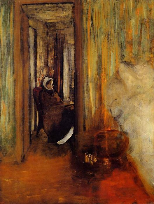 famous painting Nurse of Edgar Degas