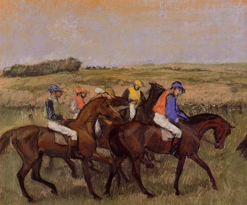 famous painting The Racecourse of Edgar Degas