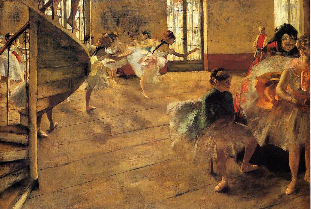 famous painting The Rehearsal 1 of Edgar Degas
