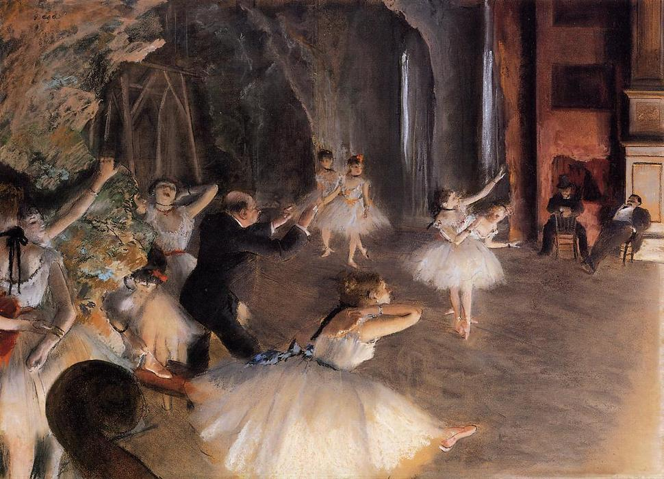 famous painting The Rehearsal on Stage of Edgar Degas