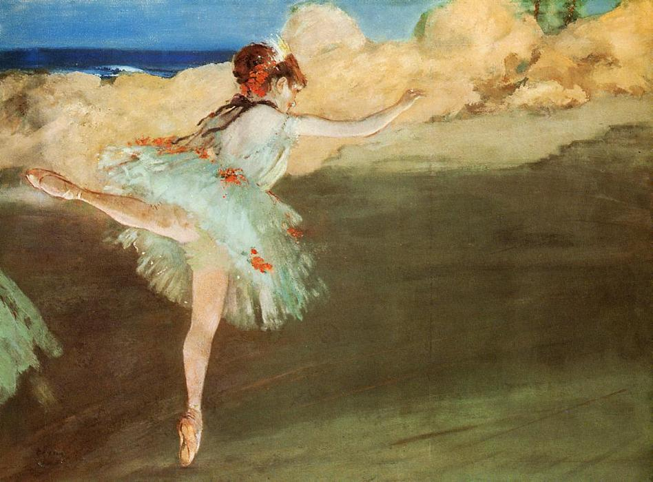 famous painting The Star - Dancer on Pointe of Edgar Degas