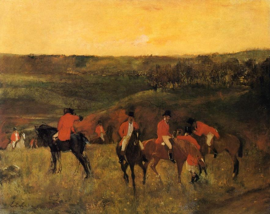 famous painting The Start of the Hunt of Edgar Degas