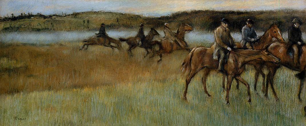 famous painting The Trainers of Edgar Degas