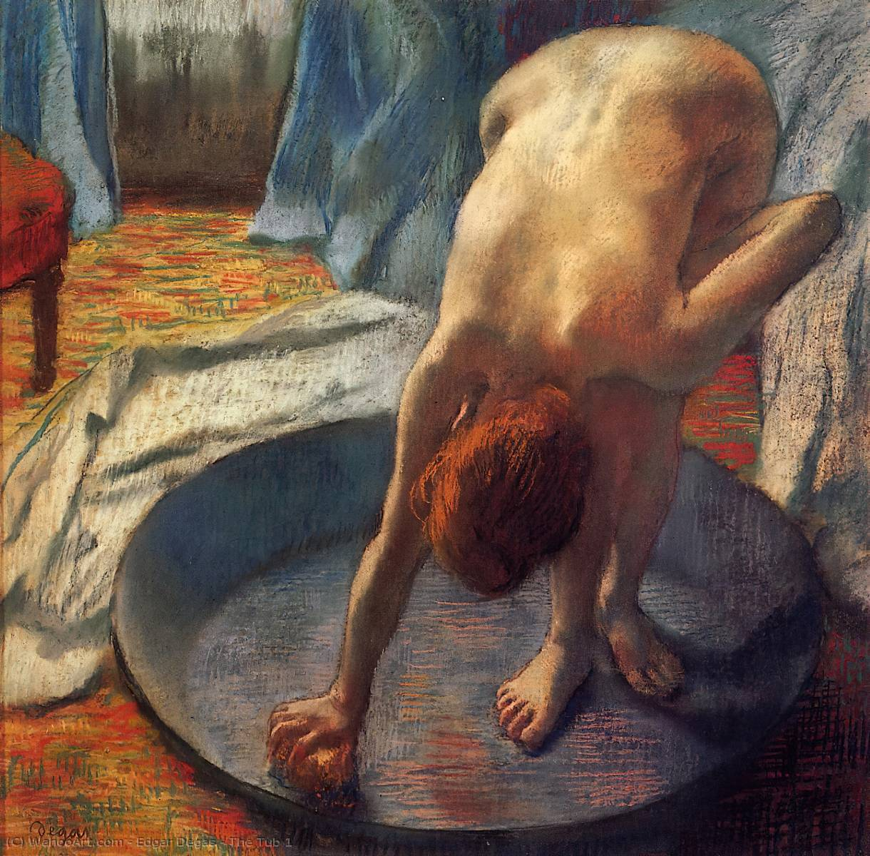 famous painting The Tub 1 of Edgar Degas