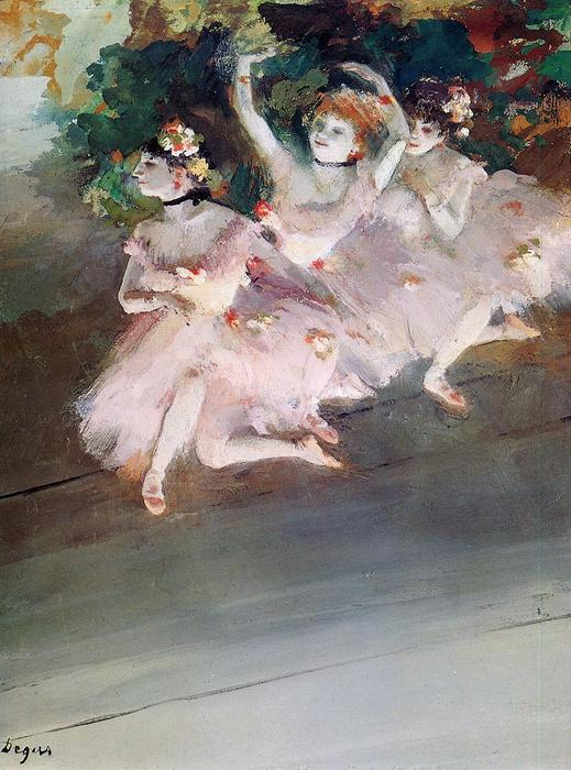 famous painting Three Ballet Dancers of Edgar Degas
