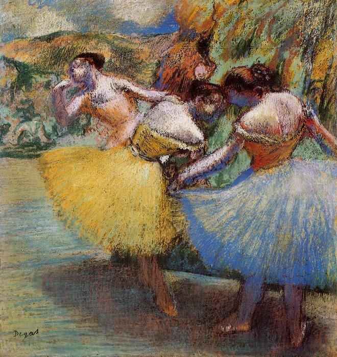 famous painting Three Dancers 1 of Edgar Degas