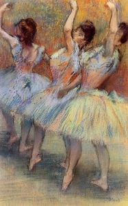 Edgar Degas - Three Dancers 3