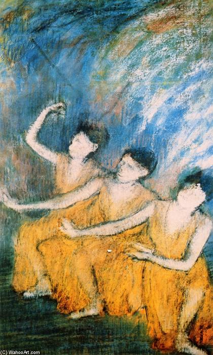 famous painting Three Dancers of Edgar Degas