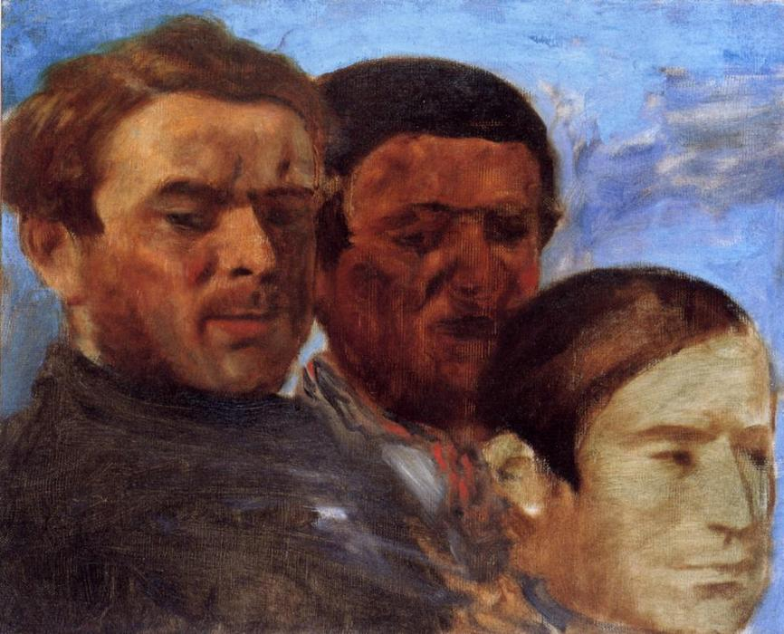famous painting Three Heads of Edgar Degas