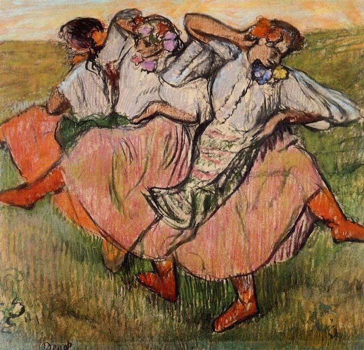famous painting Three Russian Dancers of Edgar Degas