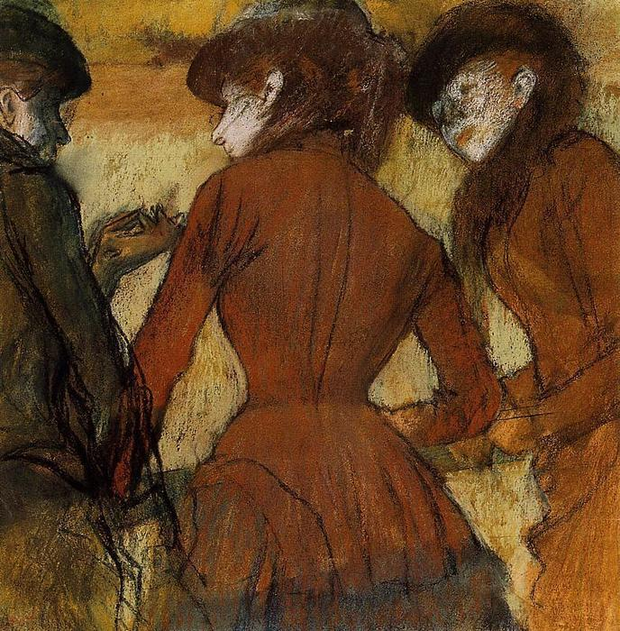 famous painting Three Women at the Races of Edgar Degas