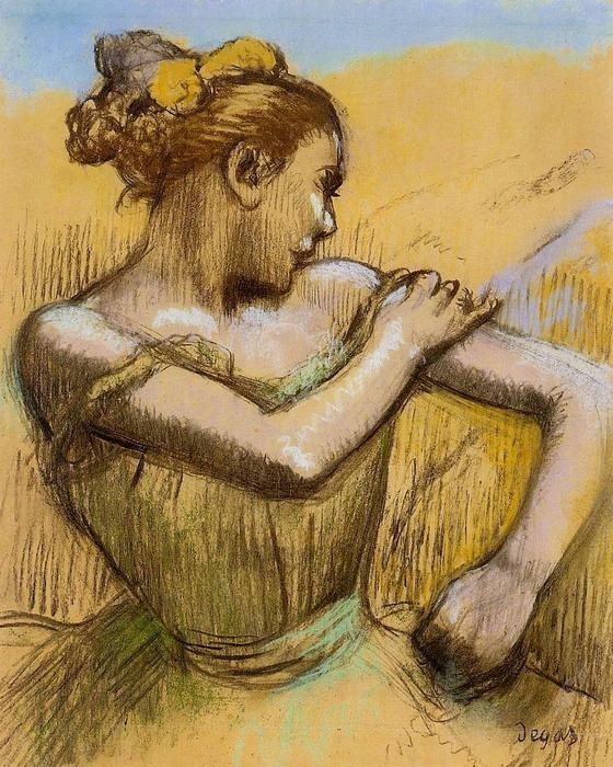 famous painting Torso of a Dancer of Edgar Degas