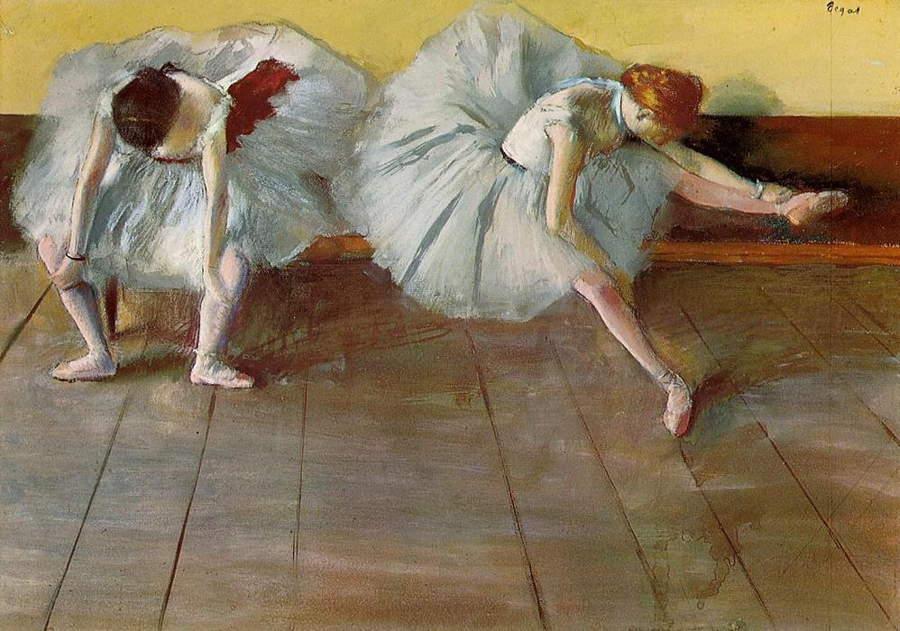 famous painting Two Ballet Dancers of Edgar Degas