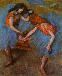 Edgar Degas - Two Dancers with Yellow Corsages