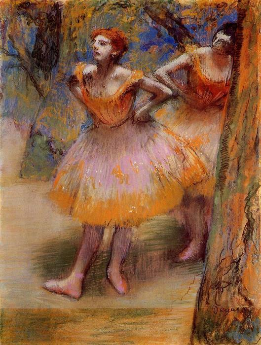 famous painting Two Dancers of Edgar Degas