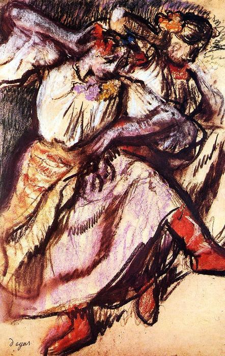 famous painting Two Russian Dancers of Edgar Degas