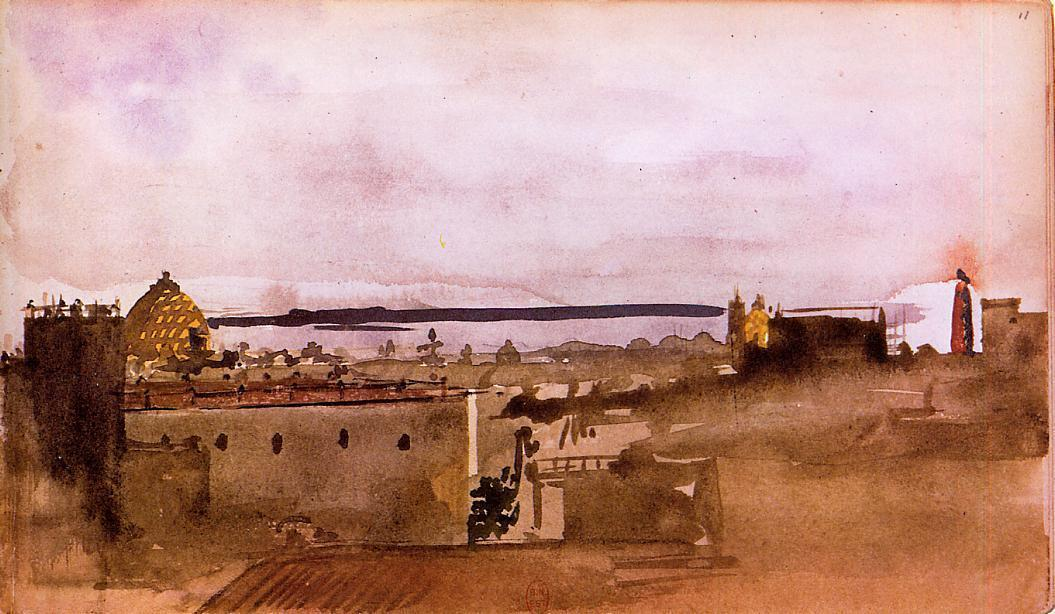 famous painting View of Naples of Edgar Degas
