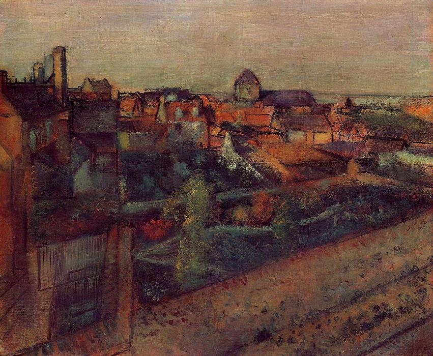 famous painting View of Saint-Valery-sur-Somme of Edgar Degas