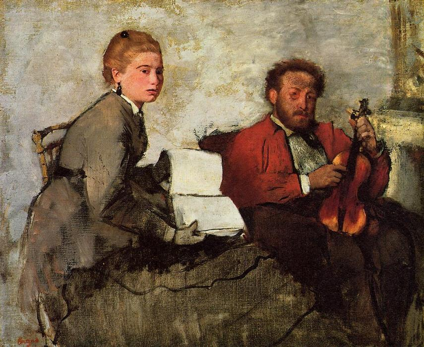 famous painting Violinist and Young Woman of Edgar Degas