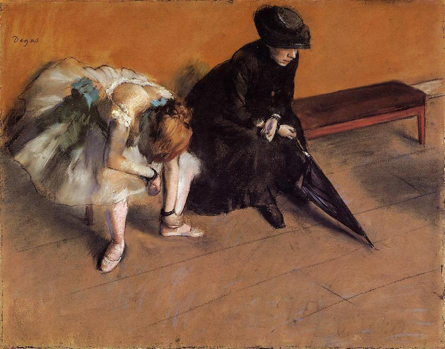 famous painting Waiting of Edgar Degas