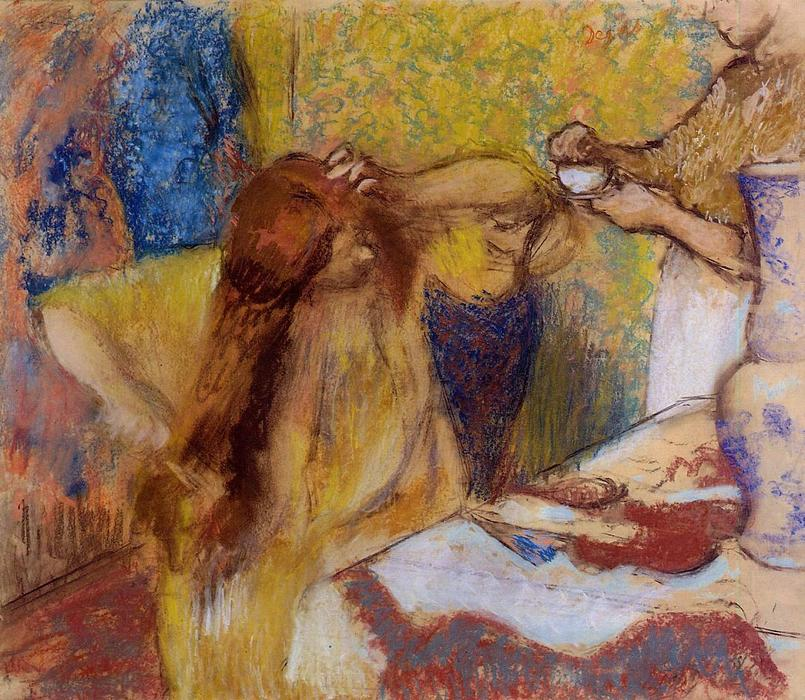 famous painting Woman at Her Toilette 4 of Edgar Degas