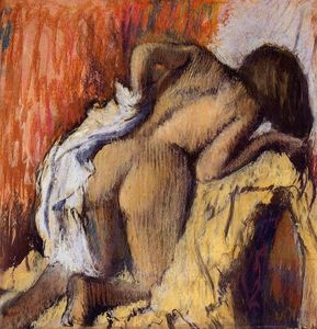 Edgar Degas - Woman Drying Herself