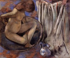 Edgar Degas - Woman in the Tub