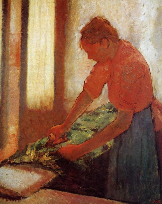 famous painting Woman Ironing of Edgar Degas