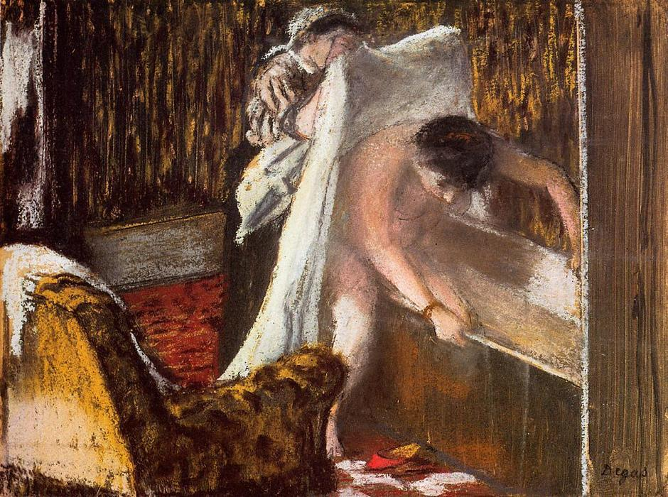 famous painting Woman Leaving Her Bath 2 of Edgar Degas