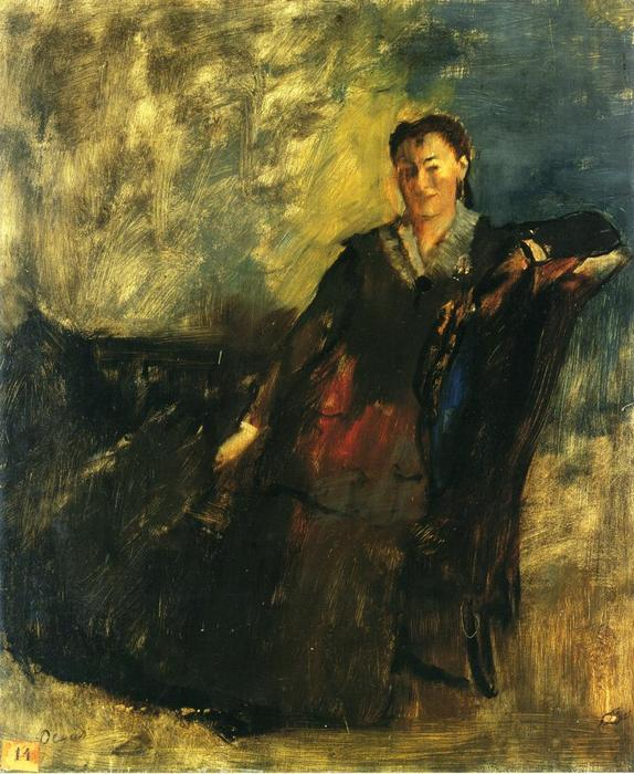 famous painting Woman Seated on a Canape of Edgar Degas
