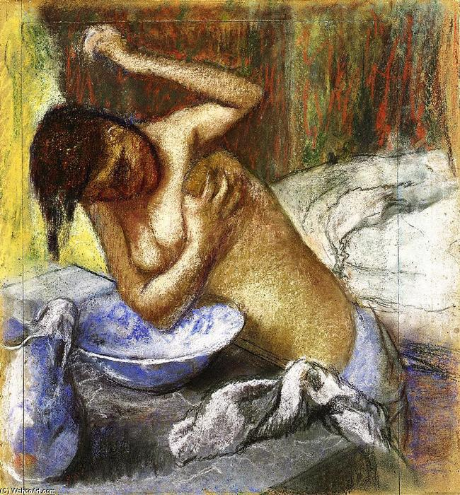 famous painting Woman Sponging Her Chest of Edgar Degas