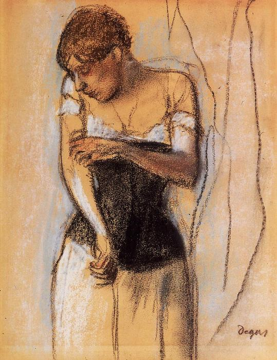 famous painting Woman Touching Her Arm of Edgar Degas