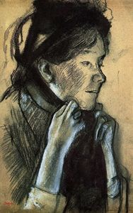 Edgar Degas - Woman Tying the Ribbons of Her Hat