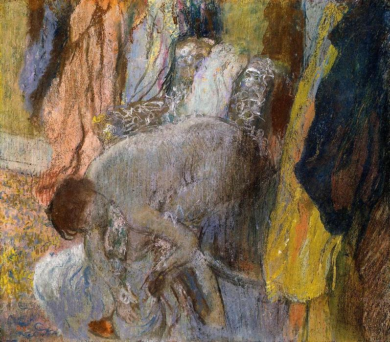 famous painting Woman Washing Her Feet of Edgar Degas
