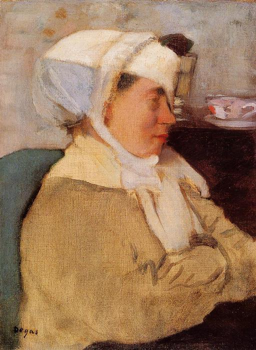 famous painting Woman with a Bandage of Edgar Degas