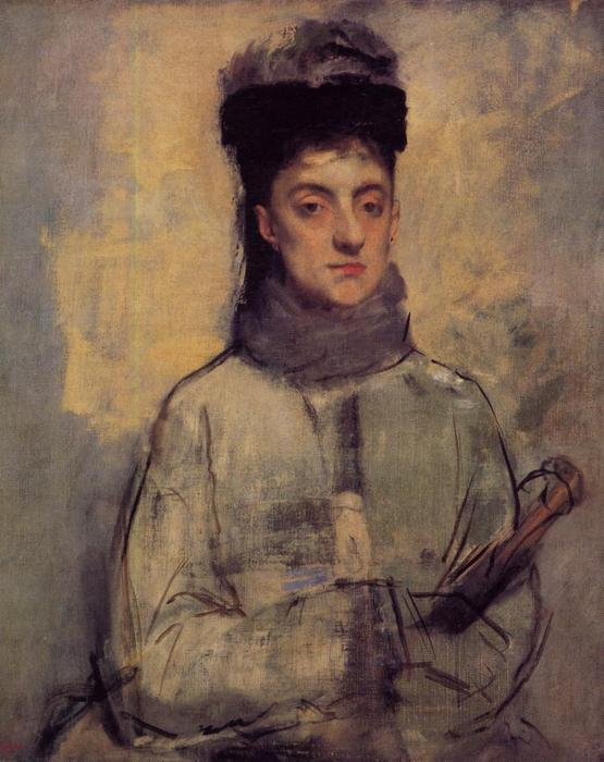 famous painting Woman with an Umbrella of Edgar Degas
