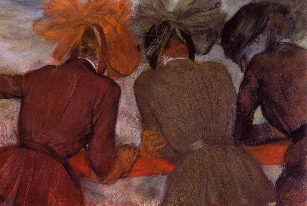 famous painting Women Leaning on a Railing of Edgar Degas