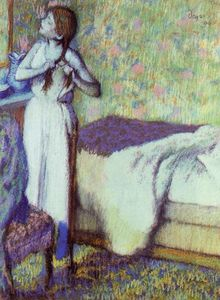 Edgar Degas - Young Girl Braiding Her Hair