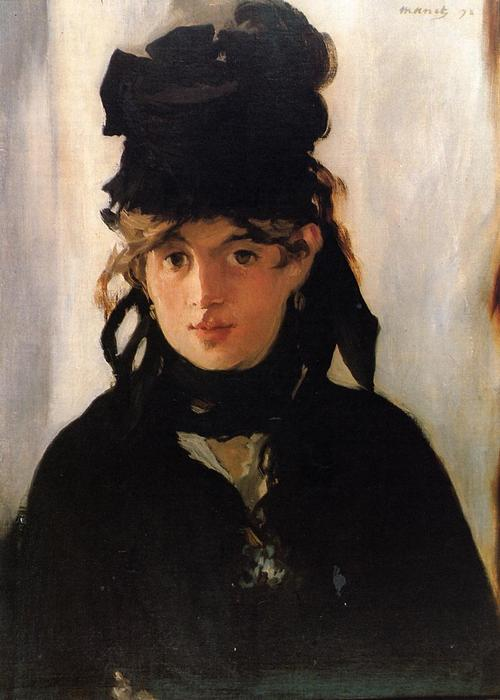 famous painting Berthe Morisot with a bouquet of violets of Edouard Manet